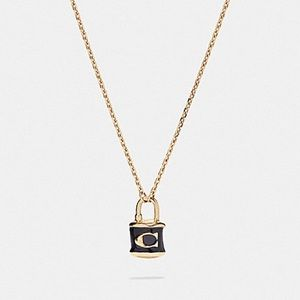 Coach Jewelry - Coach Lock Pendant Necklace